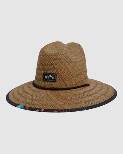 1 Tides Print Straw Hat Blue 9604338 Billabong