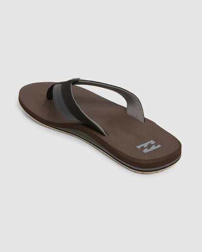 2 All Day Impact Thongs Brown 9607933 Billabong