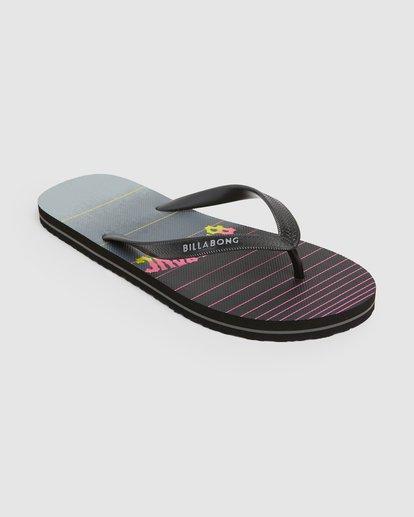 1 73 Stripe Thongs Black 9607946 Billabong