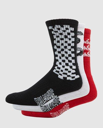 0 Multi Plex Socks 3 Pack Multicolor 9608608 Billabong