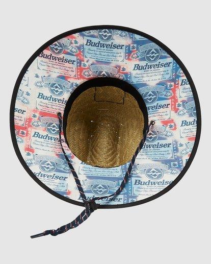 3 Budweiser Tides Print Hat Red 9613306 Billabong