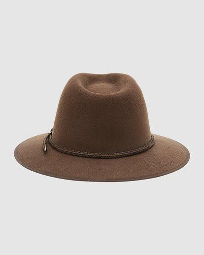 3 Wrangler Nash Fedora Hat Brown 9613307 Billabong