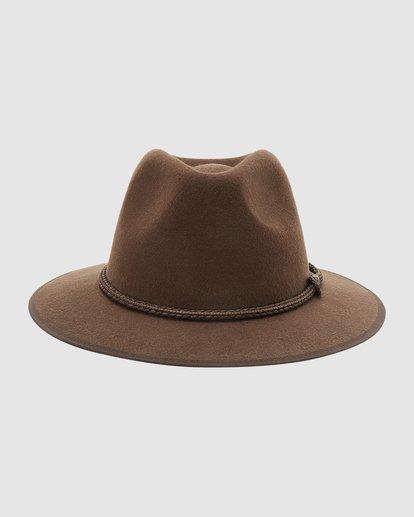 0 Wrangler Nash Fedora Hat Brown 9613307 Billabong