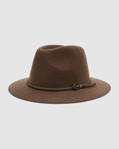 1 Wrangler Nash Fedora Hat Brown 9613307 Billabong