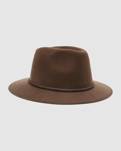 2 Wrangler Nash Fedora Hat Brown 9613307 Billabong