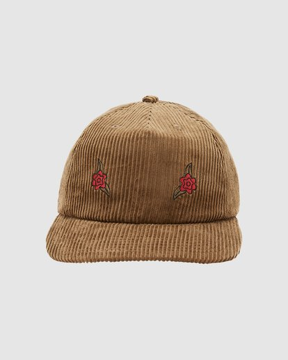 1 Wrangler Rose Garden Strapback Cap Brown 9613310 Billabong