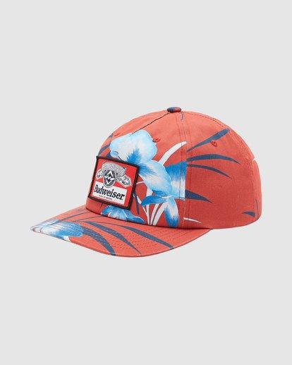 1 Budweiser Vacay Snapback Hat Red 9613331 Billabong