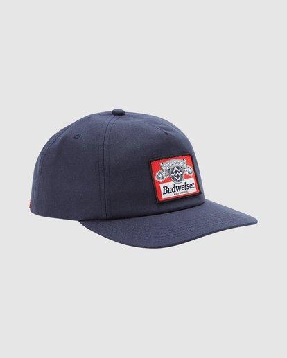 2 Budweiser Insignia Snapback Hat Blue 9613334 Billabong