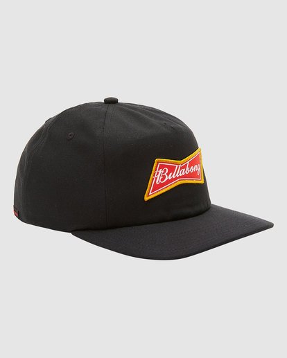2 Budweiser Bow Snapback Hat Black 9613335 Billabong
