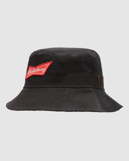 6 Budweiser Bow Bucket Hat Black 9613337 Billabong