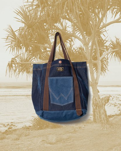 1 Wrangler Hemp Denim Tote Bag Blue 9613506 Billabong