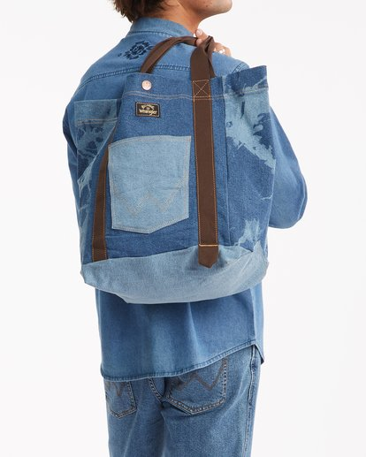 2 Wrangler Hemp Denim Tote Bag Blue 9613506 Billabong
