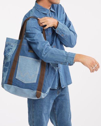 3 Wrangler Hemp Denim Tote Bag Blue 9613506 Billabong