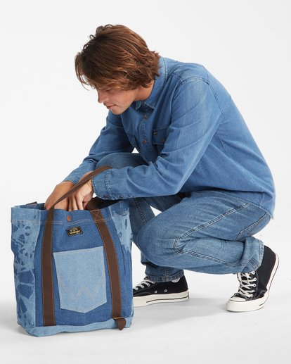 4 Wrangler Hemp Denim Tote Bag Blue 9613506 Billabong