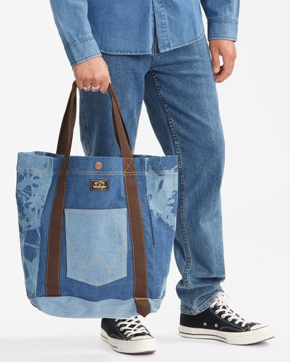 5 Wrangler Hemp Denim Tote Bag Blue 9613506 Billabong