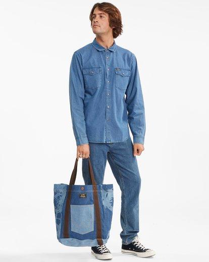 6 Wrangler Hemp Denim Tote Bag Blue 9613506 Billabong