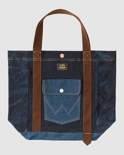 7 Wrangler Hemp Denim Tote Bag Blue 9613506 Billabong