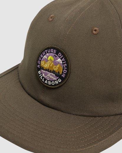 3 Adventure Division Snapback Cap Green 9617317 Billabong