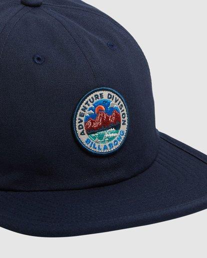 3 Adventure Division Snapback Cap Blue 9617317 Billabong