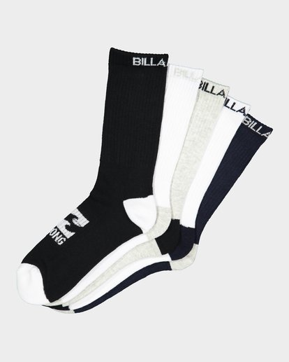 6 ANKLE SOCKS 5 PACK STANDARD  9681604 Billabong