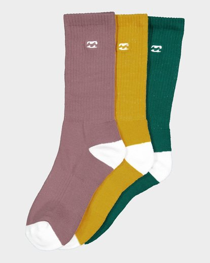 8 WAVE WASHED SOCKS 3 PACK Multicolor 9691607 Billabong