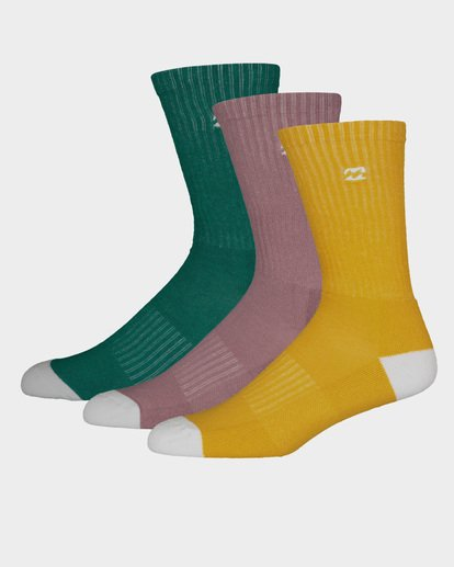 0 WAVE WASHED SOCKS 3 PACK Multicolor 9691607 Billabong