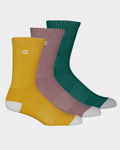 3 WAVE WASHED SOCKS 3 PACK Multicolor 9691607 Billabong