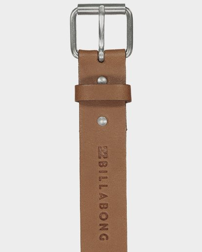 1 STRINGER LEATHER BELT Beige 9695650 Billabong