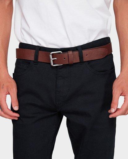 2 Stringer Leather Belt Green 9695650 Billabong