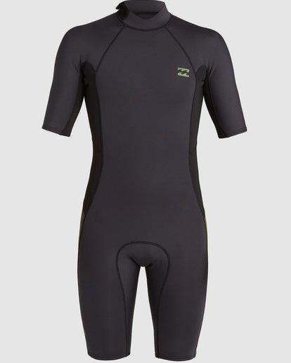 1 202 Absolute Fl Back Zip Short Sleeve Springsuit Black 9703400 Billabong