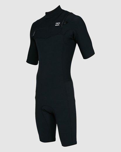 0 202 Revolution Comp Chest Zip Short Sleeve Springsuit Black 9703490 Billabong