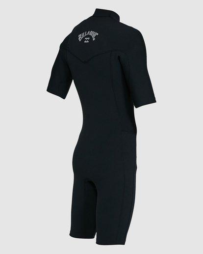 4 202 Revolution Comp Chest Zip Short Sleeve Springsuit Black 9703490 Billabong