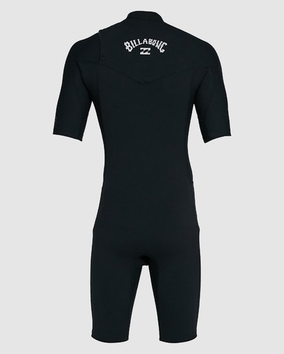 10 202 Revolution Comp Chest Zip Short Sleeve Springsuit Black 9703490 Billabong