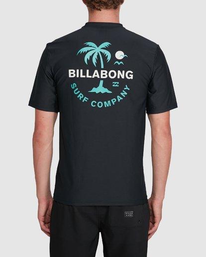 2 Vacation Loose Fit Short Sleeve Rash Vest Black 9703500 Billabong