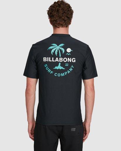 5 Vacation Loose Fit Short Sleeve Rash Vest Black 9703500 Billabong