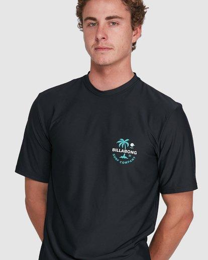 6 Vacation Loose Fit Short Sleeve Rash Vest Black 9703500 Billabong