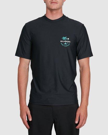 0 Vacation Loose Fit Short Sleeve Rash Vest Black 9703500 Billabong