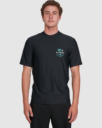 3 Vacation Loose Fit Short Sleeve Rash Vest Black 9703500 Billabong