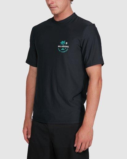 1 Vacation Loose Fit Short Sleeve Rash Vest Black 9703500 Billabong