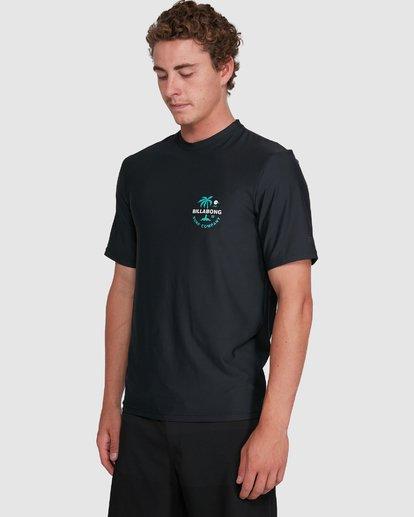 4 Vacation Loose Fit Short Sleeve Rash Vest Black 9703500 Billabong