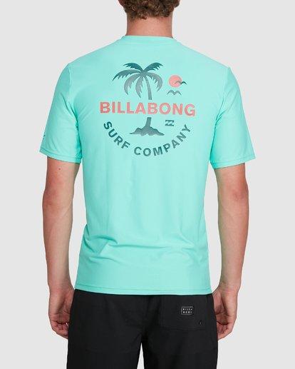 2 Vacation Loose Fit Short Sleeve Rash Vest Blue 9703500 Billabong