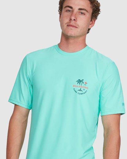 6 Vacation Loose Fit Short Sleeve Rash Vest Blue 9703500 Billabong
