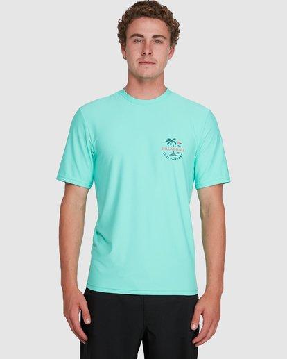 3 Vacation Loose Fit Short Sleeve Rash Vest Blue 9703500 Billabong