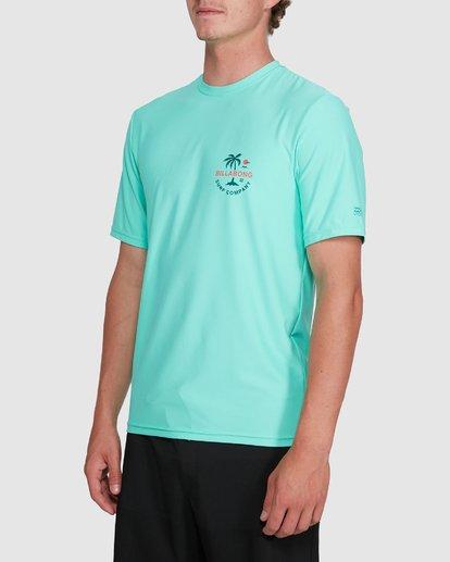 1 Vacation Loose Fit Short Sleeve Rash Vest Blue 9703500 Billabong