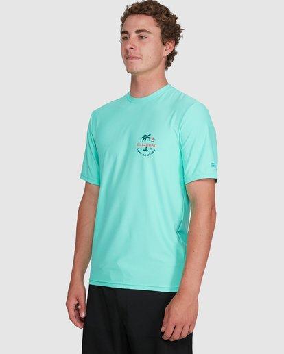 4 Vacation Loose Fit Short Sleeve Rash Vest Blue 9703500 Billabong