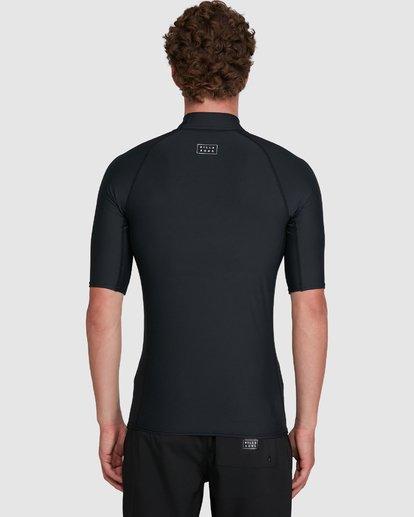 6 All Day Wave Performance Fit Short Sleeve Rash Vest Black 9703502 Billabong