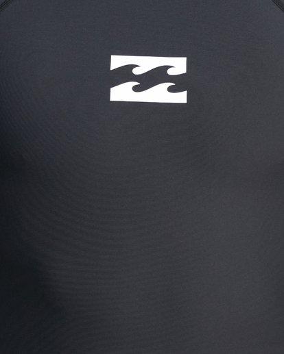 8 All Day Wave Performance Fit Short Sleeve Rash Vest Black 9703502 Billabong