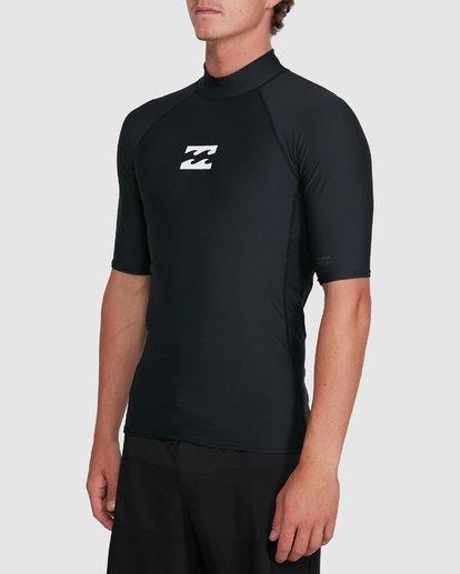 1 All Day Wave Performance Fit Short Sleeve Rash Vest Black 9703502 Billabong
