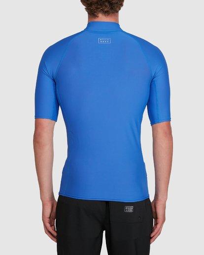 2 All Day Wave Performance Fit Short Sleeve Rash Vest Blue 9703502 Billabong