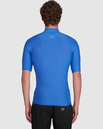 5 All Day Wave Performance Fit Short Sleeve Rash Vest Blue 9703502 Billabong